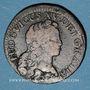 Coins Louis XV (1715-1774). 1/2 sol au buste enfantin 1721S. Reims