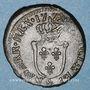 Coins Louis XV (1715-1774). 1/2 sol d'Aix 1772&