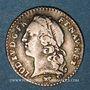 Coins Louis XV (1715-1774). 1/20 écu au bandeau 1747A. 2e semestre