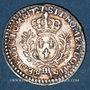 Coins Louis XV (1715-1774). 1/20 écu daux lauriers 1727BB. Strasbourg