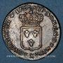 Coins Louis XV (1715-1774). 1/3 écu de France 1722&. Aix. Réformé sur un petit louis d'argent de 1720