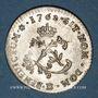 Coins Louis XV (1715-1774). Double sol en billon 1762BB. Strasbourg