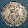 Coins Louis XV (1715-1774). Ecu vertugadin 1716 AA. Metz. Réformation