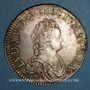 Coins Louis XV (1715-1774). Ecu vertugadin 1716 C. Caen. Réformation
