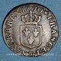 Coins Louis XV (1715-1774). Liard à la vieille tête 1770. Besançon