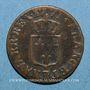 Coins Louis XV (1715-1774). Liard à la vieille tête 1771BB. Strasbourg