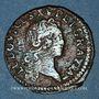 Coins Louis XV (1715-1774). Liard au buste enfantin 1721. Besançon