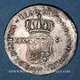 Coins Louis XV (1715-1774). XX sols de Navarre 1720&. Aix