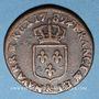 Coins Louis XVI (1774-1793). 1/2 sol 1782 &. Aix. Différent sous le buste : étoile