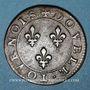 Coins Monnayage de la Ligue au nom d'Henri III (1589-1596). Double tournois n. d. (1591, Paris)