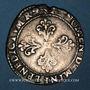 Coins Monnayage de la Ligue au nom de Henri III (1589-1596). 1/2 franc 1591M et point 5e. Toulouse