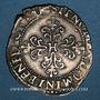Coins Monnayage de la Ligue au nom de Henri III (1589-1596). 1/4 franc au col plat 1591 M. Toulouse