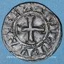 Coins Philippe III (1270-1285) ou Philippe IV (1285-1314). Denier tournois à l'O rond