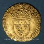 Coins Charles IX (1560-1574). Demi-écu d'or au soleil (17 aout 1561). 1565B. Rouen. R ! R !