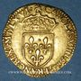 Coins Charles IX (1560-1574). Ecu d'or au soleil 1566K et nef, Bordeaux (date latine)