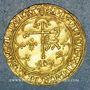 Coins Henri VI d'Angleterre (1422-1453). Salut d'or 2e émission. Saint-Lô