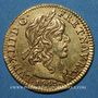 Coins Louis XIII (1610-1643). Demi-louis d'or 1643 A. Type avec baies