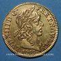 Coins Louis XIII (1610-1643). Demi-louis d'or 1643A. Type avec baies