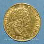 Coins Louis XIII (1610-1643). Demi-louis louis d'or 1641A