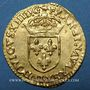 Coins Louis XIII (1610-1643). Ecu d'or, 1er type, 1615 B. Rouen