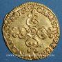 Coins Louis XIII (1610-1643). Ecu d'or, 1er type, 1615B. Rouen