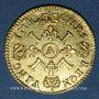 Coins Louis XIV (1643-1715). 1/2 louis d'or aux 4L 1694A. Réformation