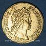 Coins Louis XIV (1643-1715). Louis d'or à la mèche courte 1643A