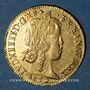Coins Louis XIV (1643-1715). Louis d'or à la mèche longue 1652 D. Lyon