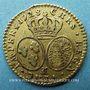Coins Louis XV (1715-1774). Demi-louis aux lunettes 1728. Besançon
