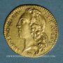 Coins Louis XV (1715-1774). Demi-louis d'or au bandeau 1743A, 2e semestre