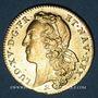Coins Louis XV (1715-1774). Double louis au bandeau 1749B. Rouen