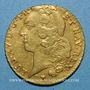 Coins Louis XV (1715-1774). Double louis au bandeau 1759 BB. Strasbourg