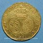 Coins Louis XV (1715-1774). Double louis au bandeau 1766 K. Bordeaux