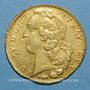 Coins Louis XV (1715-1774). Double louis au bandeau 1766K. Bordeaux