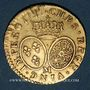 Coins Louis XV (1715-1774). Louis aux lunettes 1731(?) M. Toulouse.