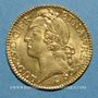 Coins Louis XV (1715-1774). Louis d'or au bandeau 1745 W. Lille