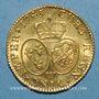Coins Louis XV (1715-1774). Louis d'or au bandeau 1745W. Lille
