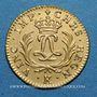 Coins Louis XV (1715-1774). Louis d'or Mirliton, grandes palmes, 1724K. Bordeaux