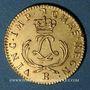 Coins Louis XV (1715-1774). Louis d'or Mirliton, palmes courtes, 1723R. Orléans