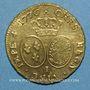 Coins Louis XVI (1774-1793). Double louis d'or au buste habillé 1776 I. Limoges