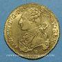 Coins Louis XVI (1774-1793). Double louis d'or au buste habillé 1776I. Limoges