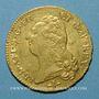 Coins Louis XVI (1774-1793). Double louis d'or au buste nu 1786 D. Lyon