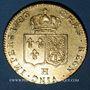 Coins Louis XVI (1774-1793). Double louis d'or  au buste nu 1786 H. La Rochelle, 1er sem.