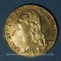 Coins Louis XVI (1774-1793). Double louis d'or au buste nu 1786 T. Nantes. 1er semestre