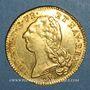 Coins Louis XVI (1774-1793). Double louis d'or au buste nu 1786I. Limoges. 1er semestre