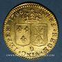 Coins Louis XVI (1774-1793). Louis d'or au buste nu 1786D. Lyon. 2e semestre