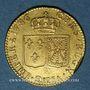 Coins Louis XVI (1774-1793). Louis d'or au buste nu 1786H. La Rochelle. 2e semestre