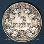 Coins Allemagne. 1/2 mark 1908G