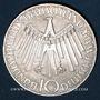 Coins Allemagne. 10 mark 1972D. Jeux olympiques. Spirale, in München