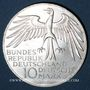 Coins Allemagne. 10 mark 1972J. Jeux olympiques. Stade